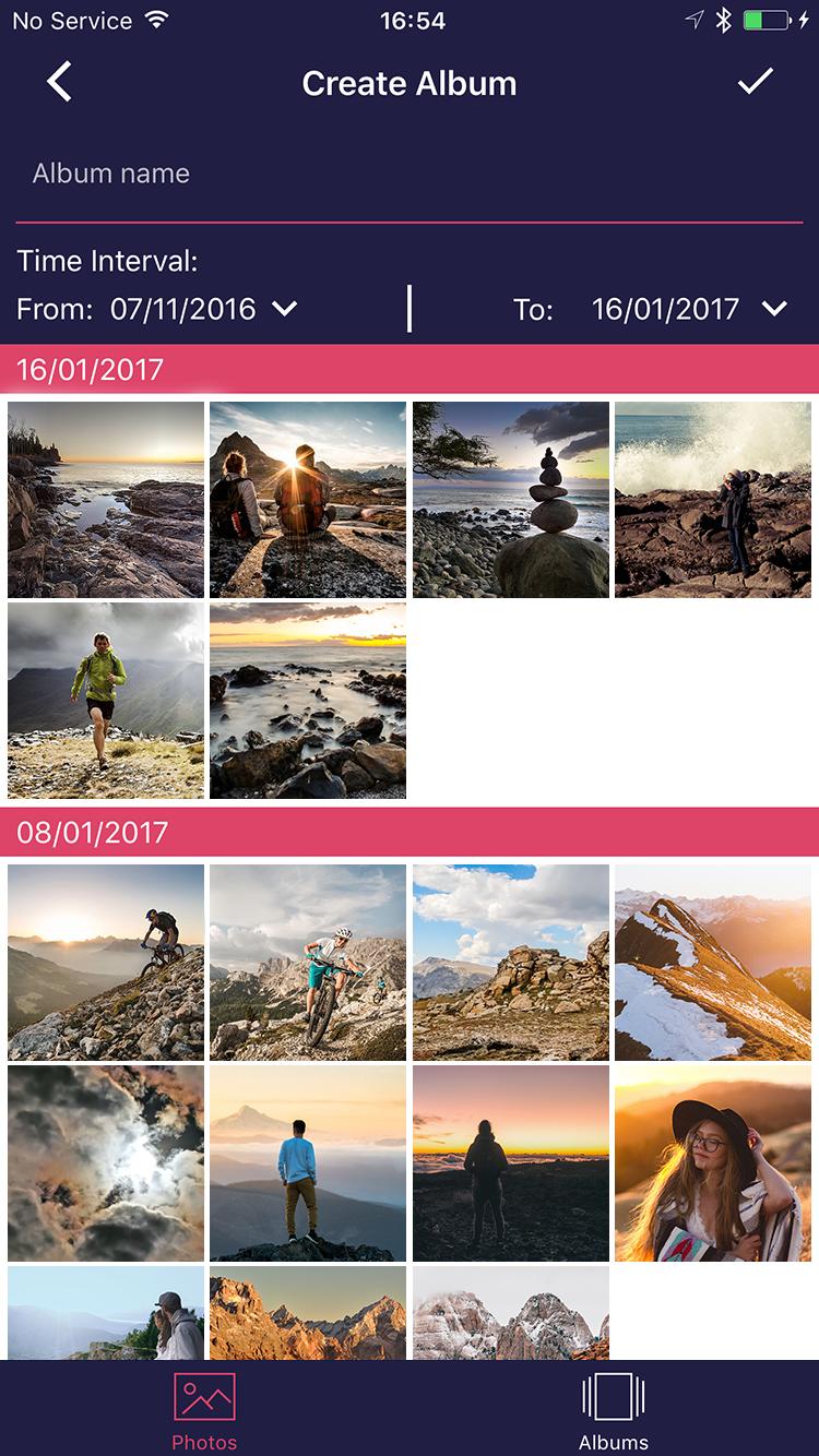 GeoPhoto app screen