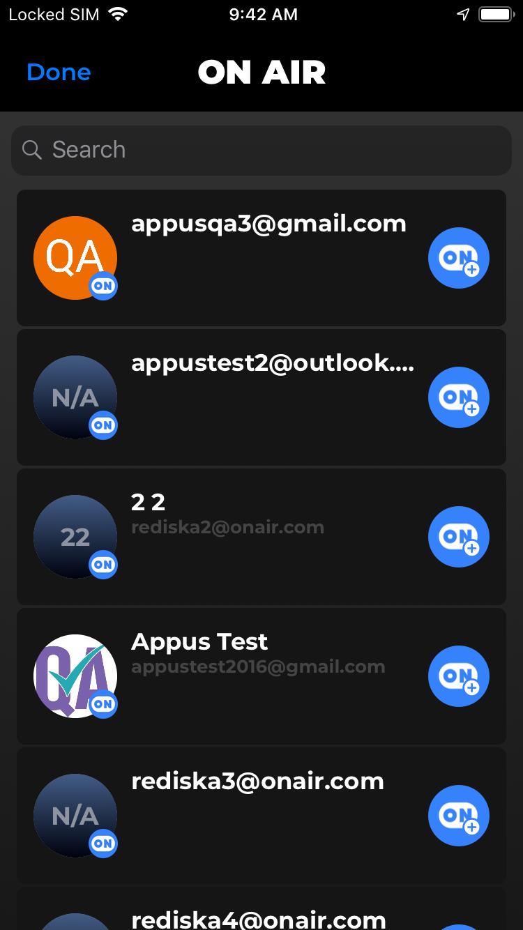 VoIP app screen 1