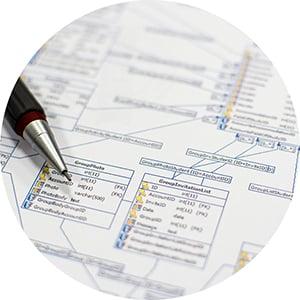 The schematic illustration of Database design